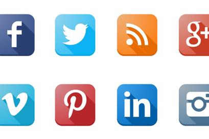 Social media icons - news