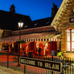 Irlam Station at night